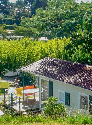 mobil home exterieur jardin